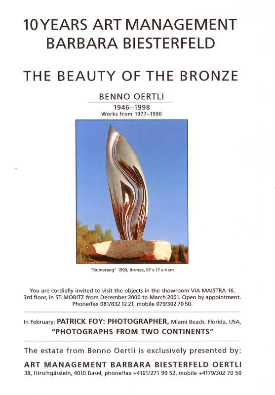Sie sehen Bilder aus dem Artikel: Ausstellung 2001 - 10 Years Art Management Barbara Biesterfeld