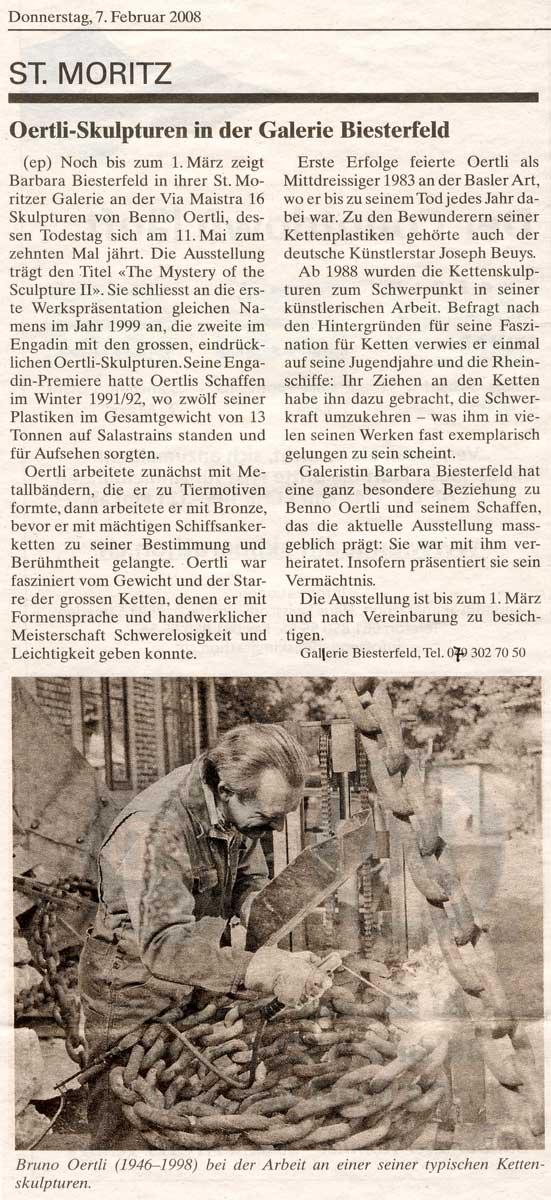 Sie sehen Bilder aus dem Artikel: Ausstellung 2008 - Oertli-Skulpturen